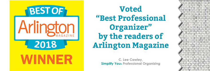 Best Professional Organizer Arlington Magazine Award
