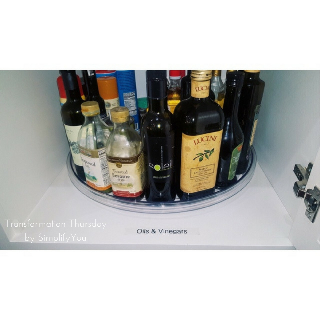 oils and vinegars on turntable