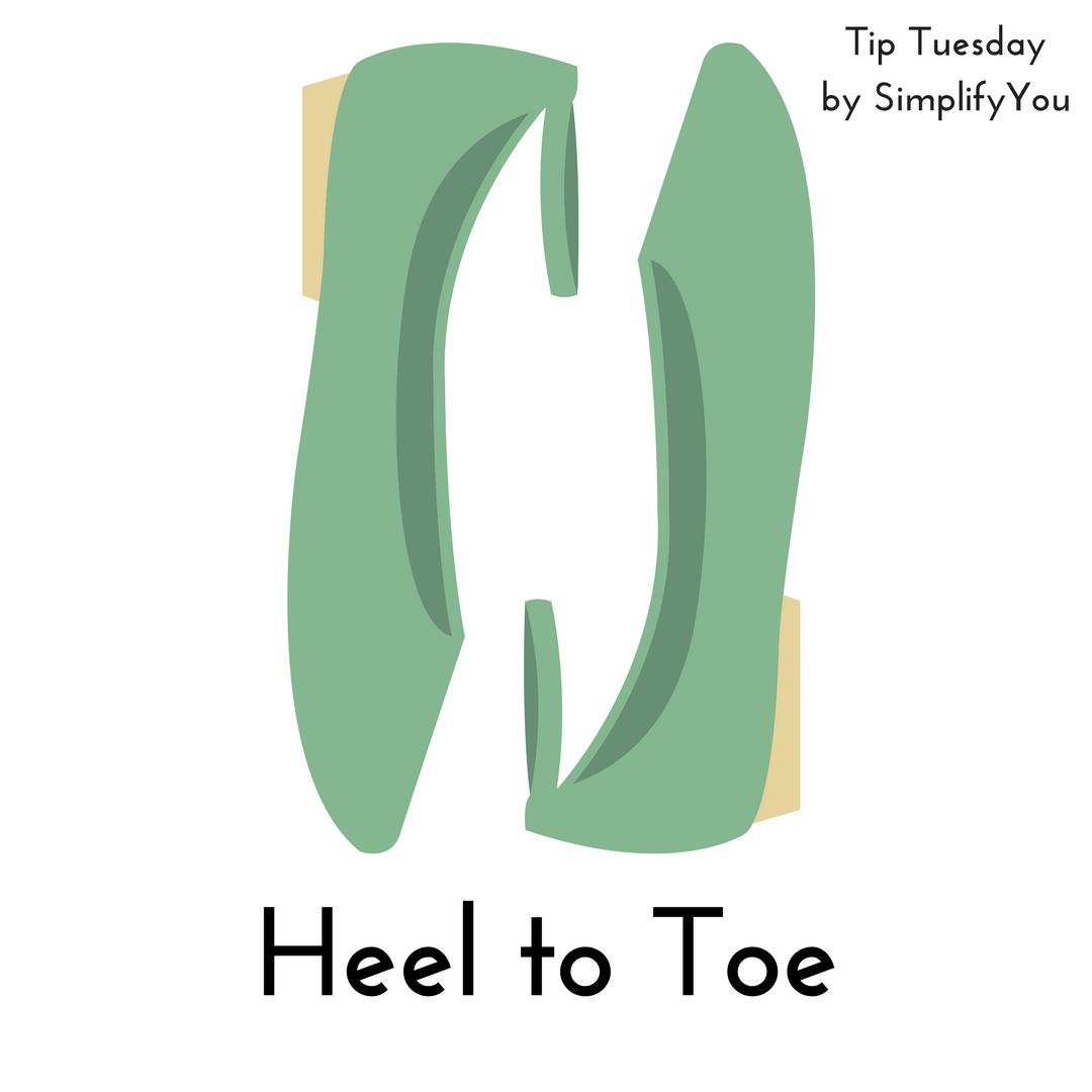 Arrange Your Shoes Heel to Toe
