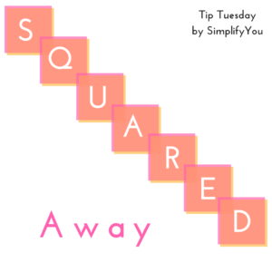 row of squares