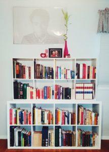 orderly bookshelf