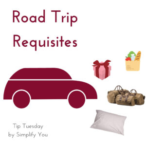 car, gift, groceries, luggage, pillow