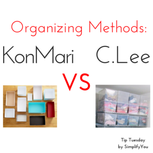 Kon Mari vs. C Lee Organizing Method