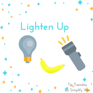 lighten up graphic