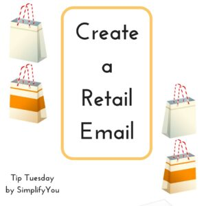 create a retail email