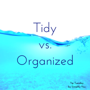 Tidy vs organized image