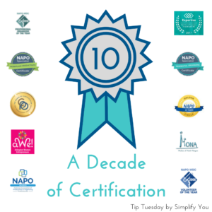 Organizing Certifications image