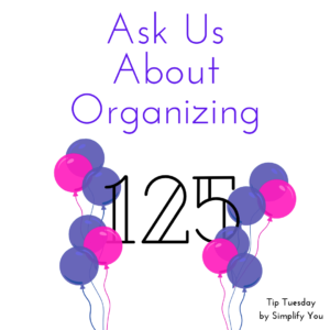 ask us about organizing