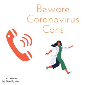 beware coronavirus cons