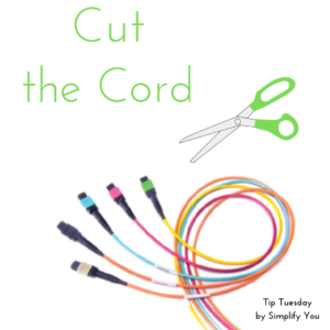 cut the cord organize wires