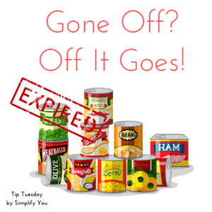 expired items to throw or keep