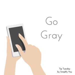 curbing smartphone addiction by going gray
