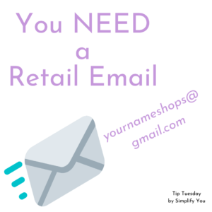 you need a retail email