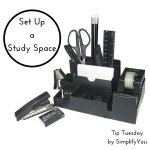 set up a study space