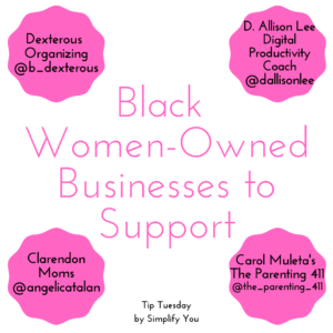 black women owned businesses to support