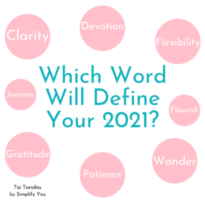 """simplify you """"which word will define your 2021?"""" image"""