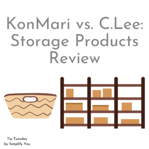 KonMari vs. C.Lee Storage Products Review blog Image