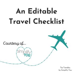 Travel Checklist Image