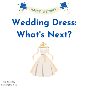 What to do with your Wedding dress after the celebration