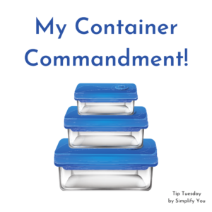 My Container Commandment!