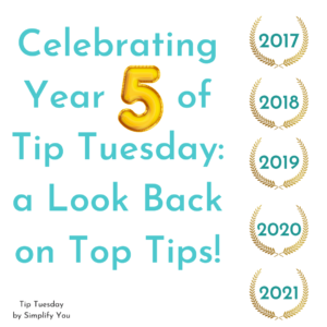 Celebrating Year 5 of Tip Tuesday: a Look Back on Top Tips image